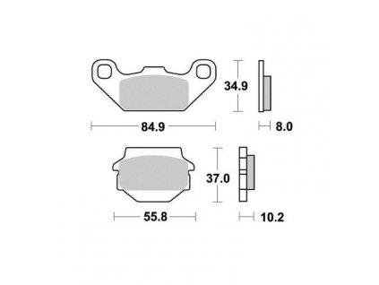 Brzdové destičky Sifam S1332N