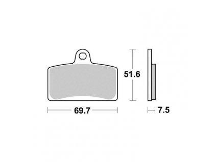 Brzdové destičky Sifam S9021N