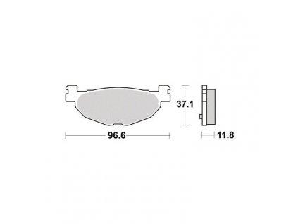 Brzdové destičky Sifam S1275N