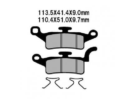 Brzdové destičky Sifam S1283N