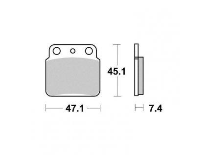 Brzdové destičky Sifam S1341N