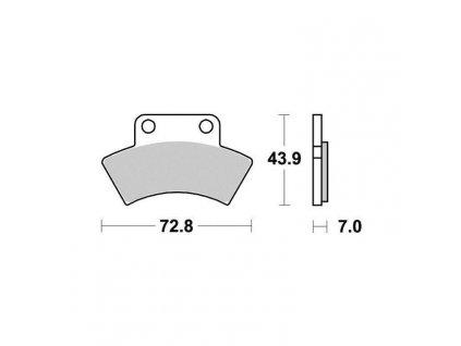 Brzdové destičky Sifam S1950N