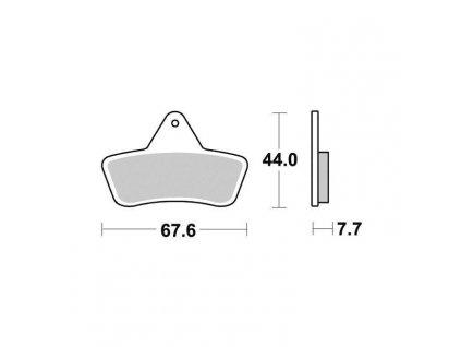 Brzdové destičky Sifam S1965N
