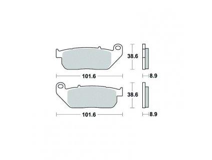 Brzdové destičky Sifam S9009N