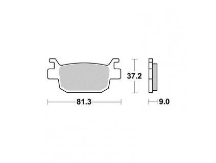 Brzdové destičky Sifam S9011N