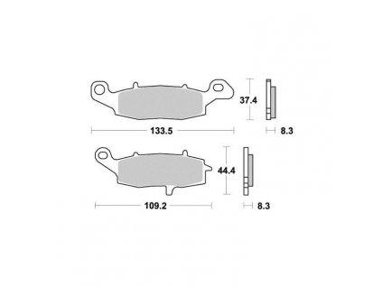 Brzdové destičky Sifam S1352N