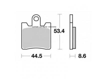 Brzdové destičky Sifam S1353N