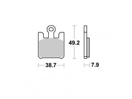 Brzdové destičky Sifam S1354N