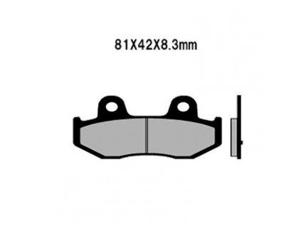 Brzdové destičky Sifam S1356N