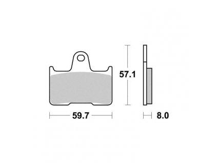 Brzdové destičky Sifam S1436N