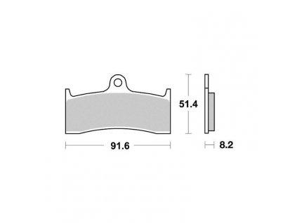 Brzdové destičky Sifam S1437N