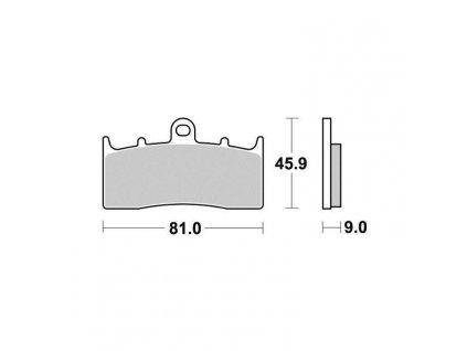 Brzdové destičky Sifam S1439N
