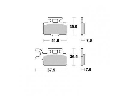 Brzdové destičky Sifam S1440N