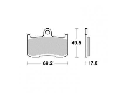 Brzdové destičky Sifam S1443N