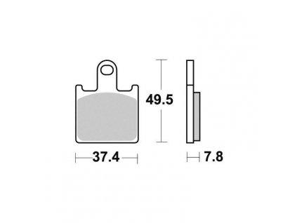Brzdové destičky Sifam S1444N