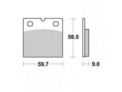 Brzdové destičky Sifam S1933N