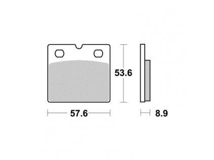 Brzdové destičky Sifam S1934N