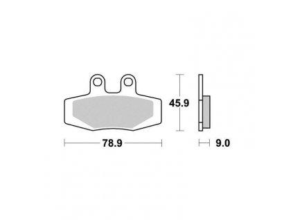 Brzdové destičky Sifam S1936N