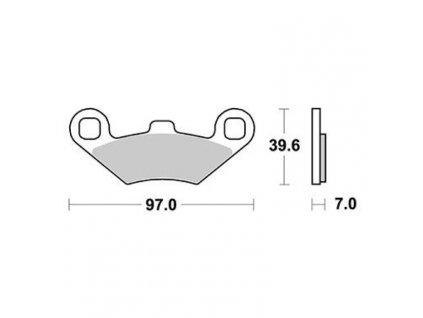 Brzdové destičky Sifam S1952N