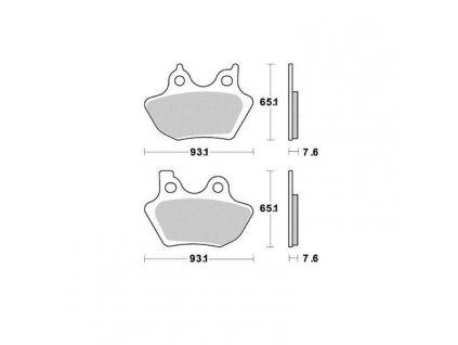 Brzdové destičky Sifam S1971N