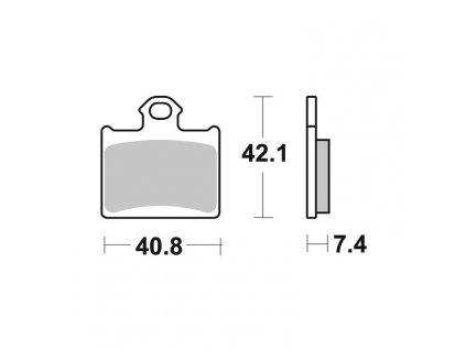 Brzdové destičky Sifam S9007N