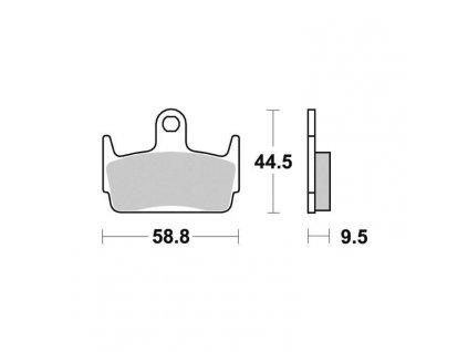 Brzdové destičky Sifam S1962N