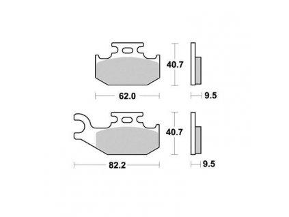 Brzdové destičky Sifam S1979N