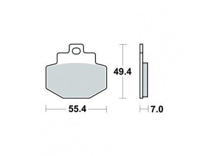 Brzdové destičky Sifam S1981N