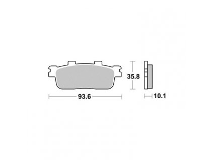 Brzdové destičky Sifam S1993N