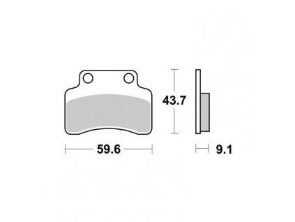 Brzdové destičky Sifam S1996N