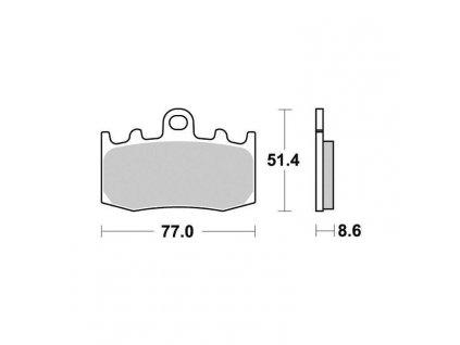 Brzdové destičky Sifam S9000N
