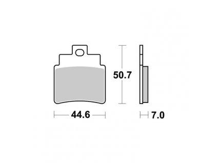 Brzdové destičky Sifam S1998N
