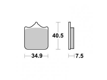 Brzdové destičky Sifam S1999N