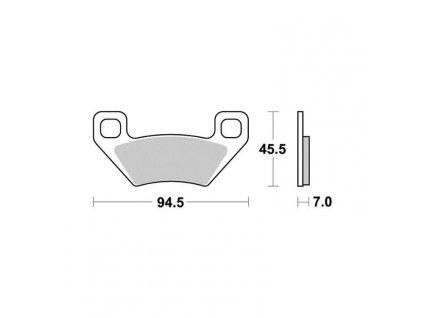 Brzdové destičky Sifam S9023N