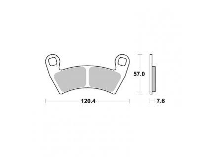 Brzdové destičky Sifam S9036N