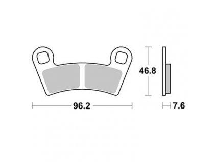 Brzdové destičky Sifam S9037N