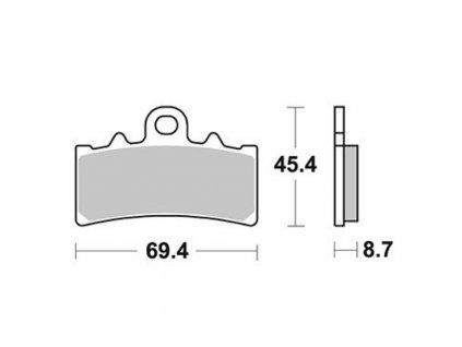 Brzdové destičky Sifam S9068N