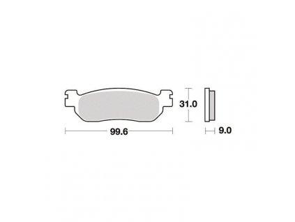 Brzdové destičky pro Italjet – Keeway – MBK – Yamaha S1263N