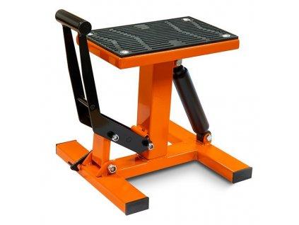 Hydraulický montážní stojan CROSS pod moto - oranžový