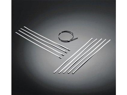 Highway Hawk Ocelové stahovací páska pro uchycení omotávky/kabeláže, nerezová ocel (1ks)