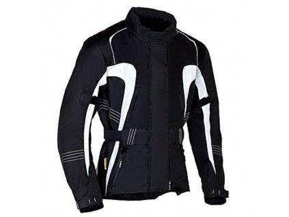 MBW VERENA dámská textilní moto bunda černá bílá