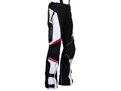 MBW EVELIN red dámské textilní moto kalhoty