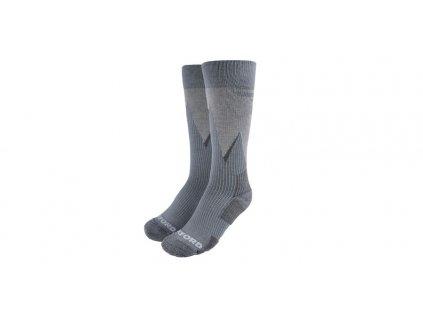 ponožky merino vlna, kompresní, OXFORD (šedé)