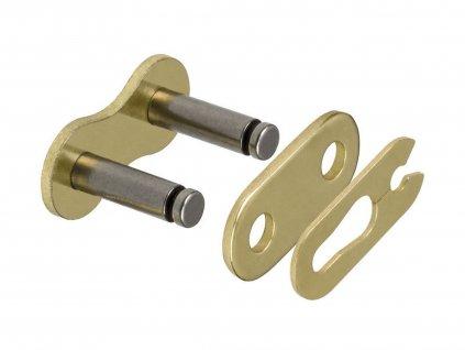 spojka řetězu 420HP, JT CHAINS (barva černo-zlatá, rozpojovací, typ SPRING)