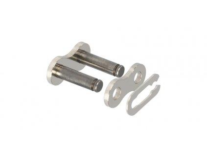 spojka řetězu 428HDR, JT CHAINS (barva stříbrno-černá, rozpojovací, typ SPRING)
