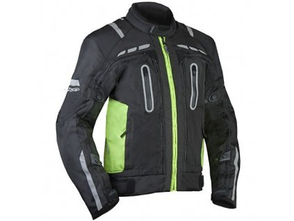 MBW NEAT pánská textilní moto bunda černá fluo