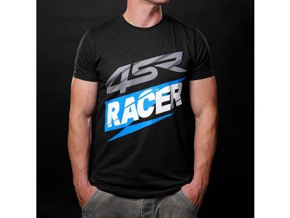 4SR T Shirt Racer Black 1