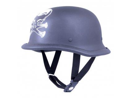 Retro otevřená moto helma Sodager Skull Head