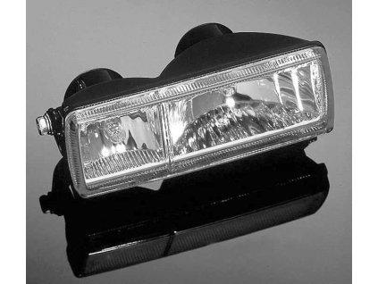 Parabola pro hlavní motocyklové světlo Highway Hawk, dvojitá, čtvercová, E-mark