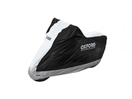 plachta na motorku Aquatex, OXFORD - Anglie (černá/stříbrná)